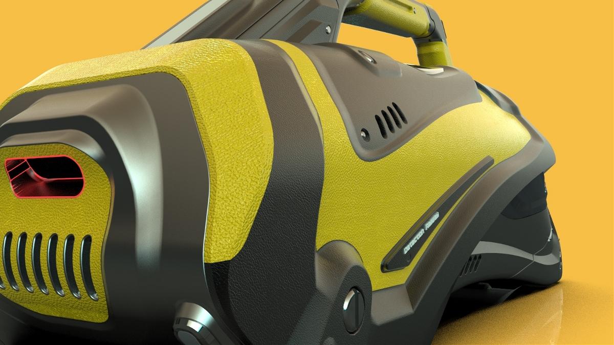 五金产品外观设计(智能搜寻机)专利作品