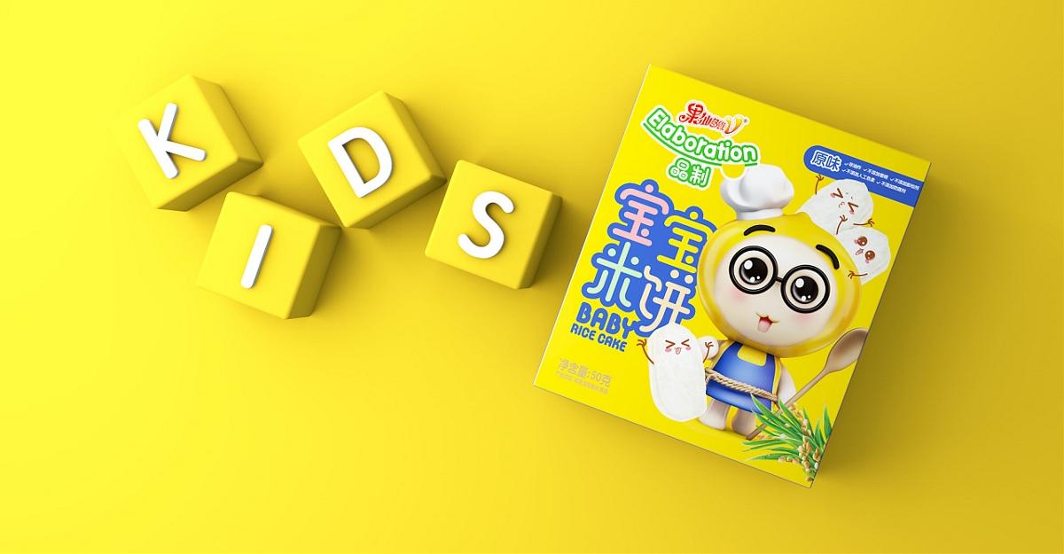 果仙多维宝贝米饼包装设计