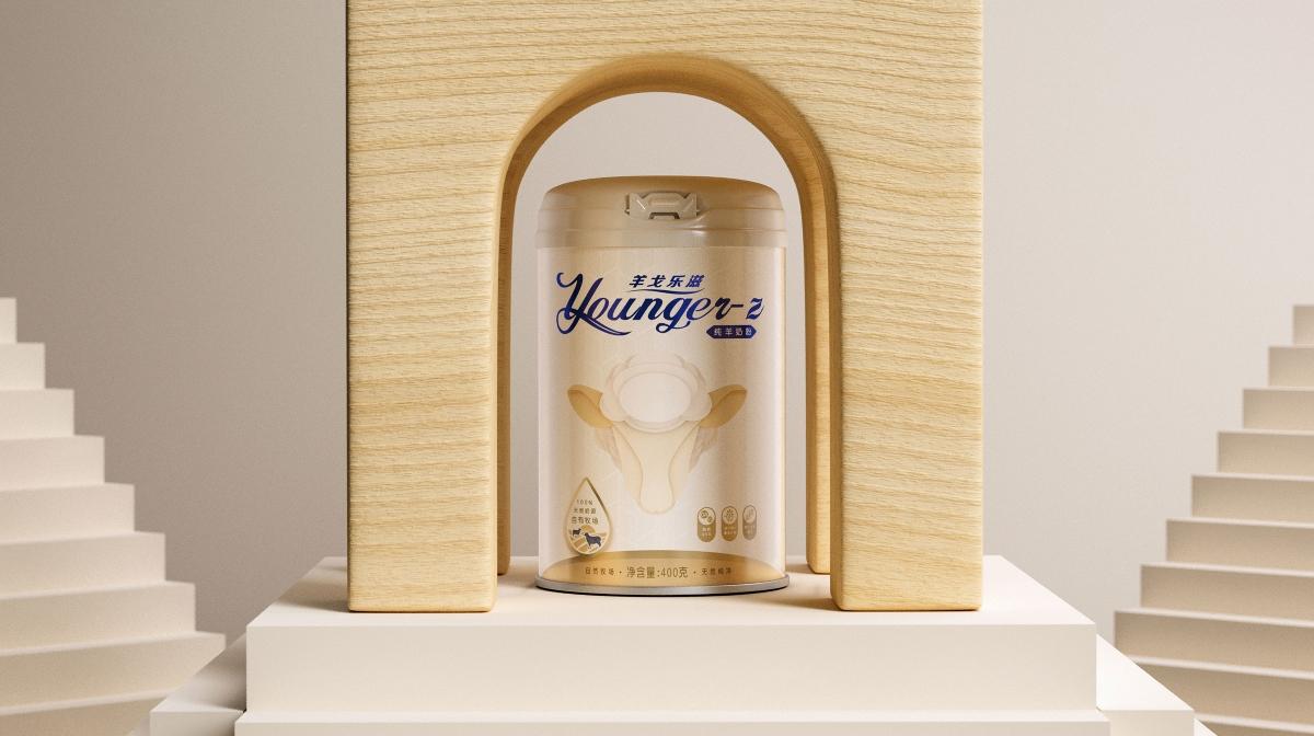 羊戈乐滋奶粉包装设计