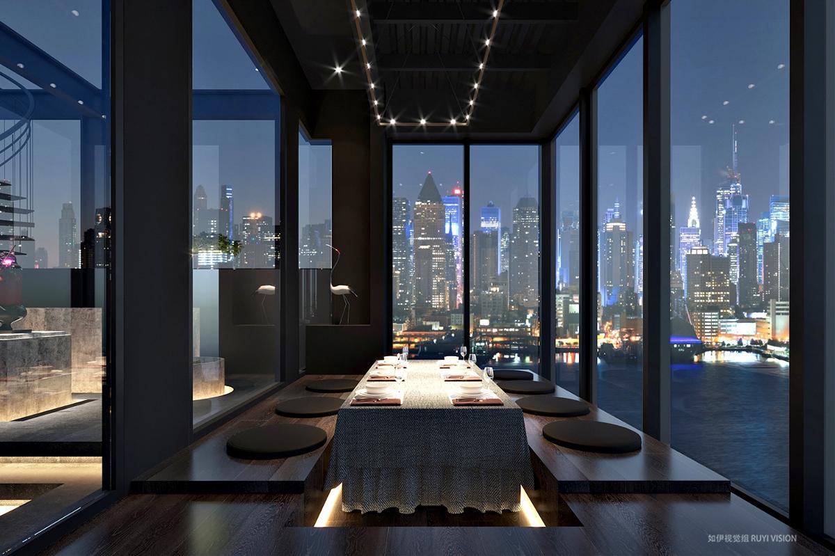 餐厅展厅空间(夜晚)丨如伊视觉(24)