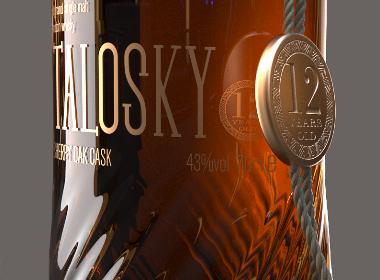 Talosky威士忌包装设计