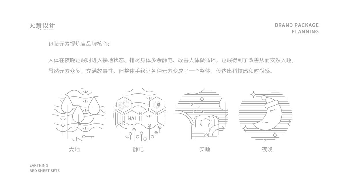 Earthing银纤维接地床品包装设计