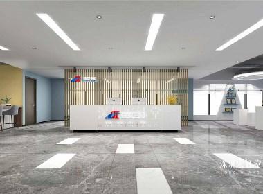 郑州宏钰堂1500平大型办公室装修设计效果图
