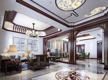 新中式客厅餐厅书房娱乐室