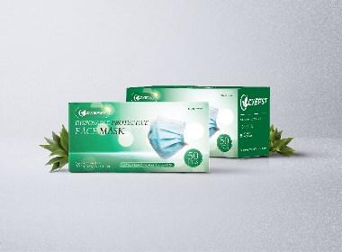 外贸出口口罩纸盒包装设计-湖南楚雄环保科技公司