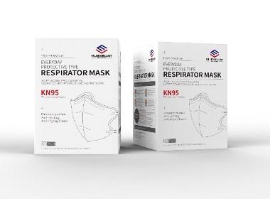 kn95口罩包装盒设计-悟杰品牌视觉设计