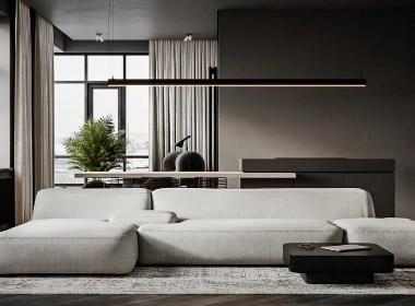 黑白灰+极简,超有格调的家--欧模设计圈