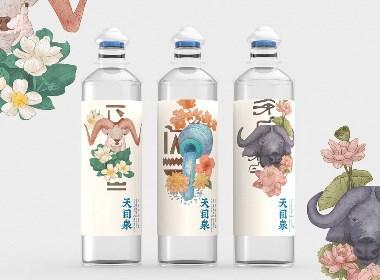 天目泉/饮用天然矿泉水/包装形象设计/包装设计/瓶贴设计/瓶型开发设计