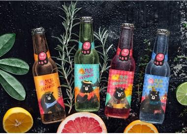 乾生元熊熊旅行日记蜜桃米酒桃子米酒包装设计方案