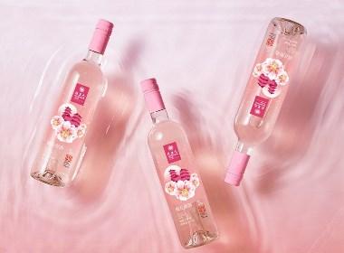 乾生元桃花味米酒桃花酿米酒包装设计方案