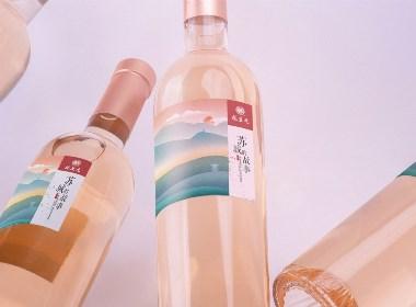苏城的故事米酒瓶贴设计 米酒包装设计方案