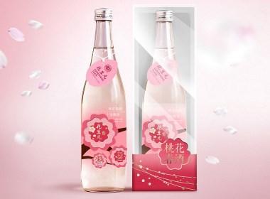 桃花春酒包装设计桃花酒包装设计桃花米酒包装设计方案2