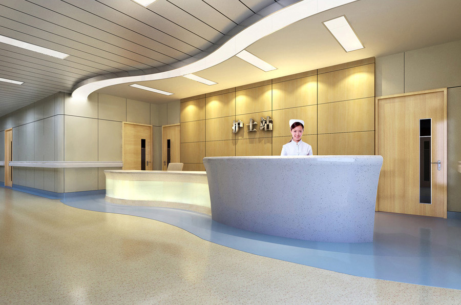 护士站.医院走廊设计案例效果图
