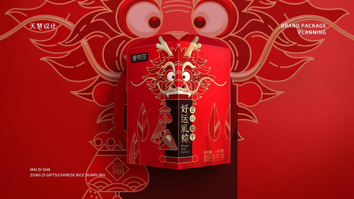 麦帝莎端午粽子礼盒系列包装设计