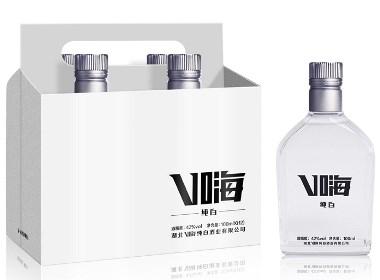 时尚风格光瓶白酒设计-黑马奔腾创意设计