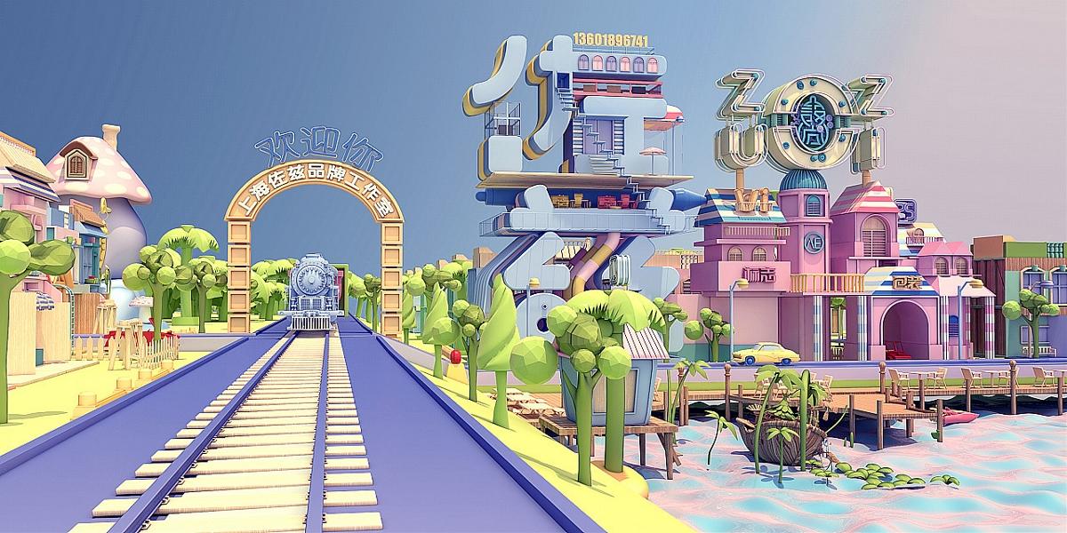 c4d电商设计/产品建模渲染/3D建模/电商建模渲染/场景渲染合成