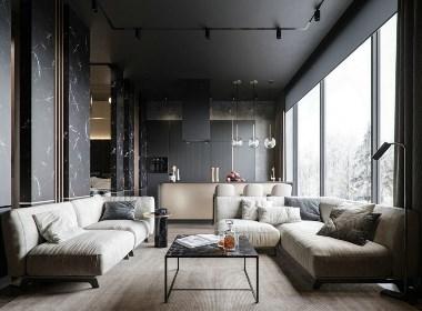 高级黑的魅力 - 如果你喜欢黑白灰,喜欢质感一点的家装可以关注我