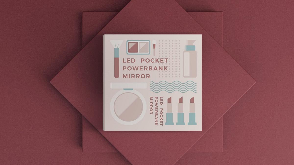 化妆镜包装设计