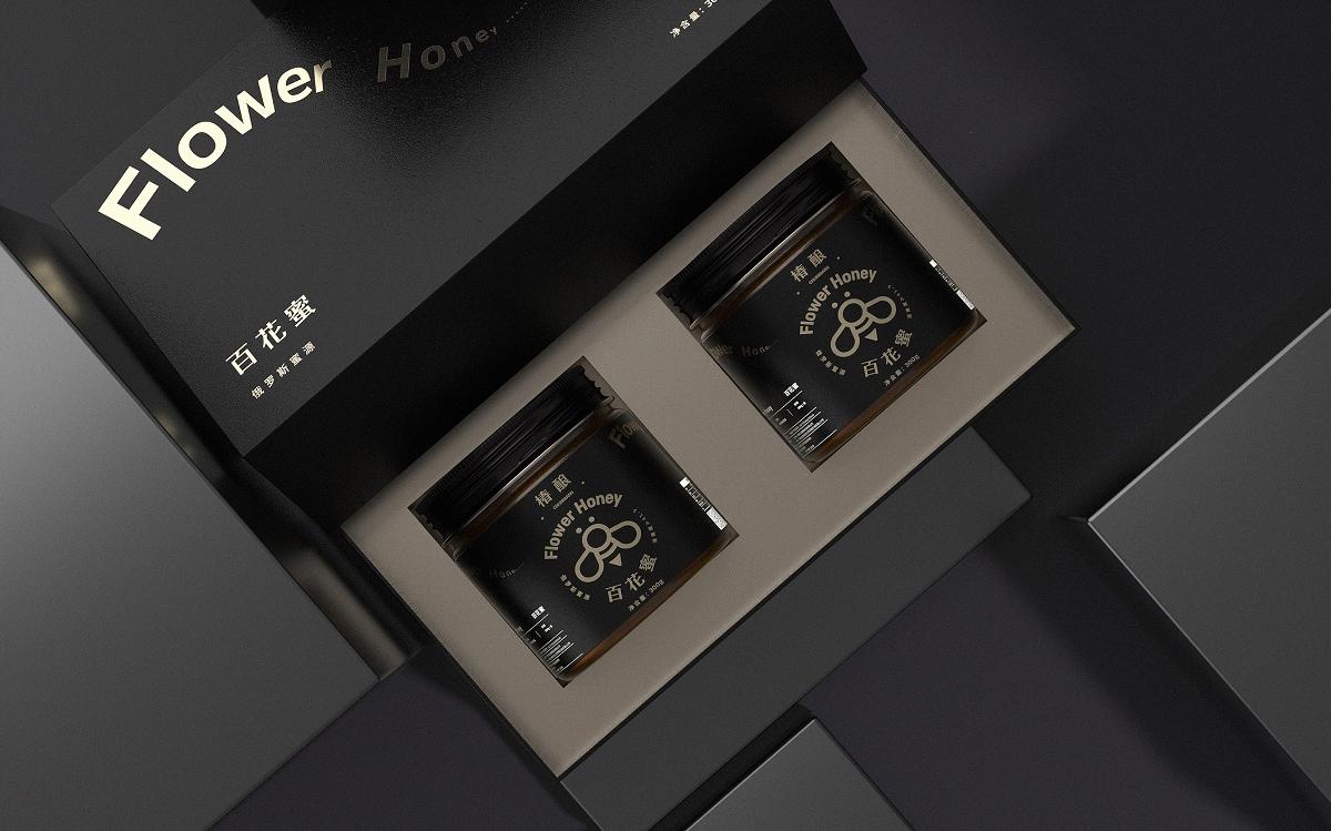 《Flower Honey - 百花蜜》蜂蜜包装设计 / 百花蜜包装设计