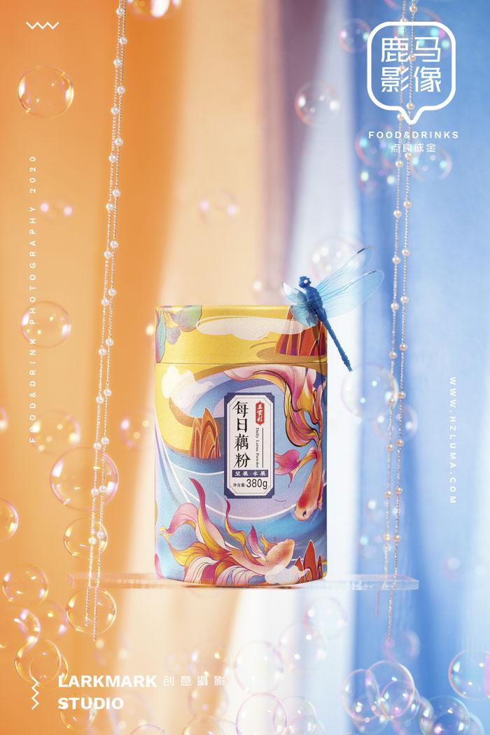 李佳琦直播间爆卖8W罐的电商美食摄影丨三家村藕粉