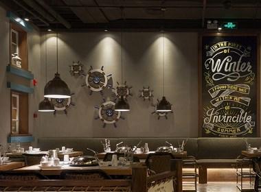 """""""近海蒸鲜""""海鲜餐厅装饰设计,海的味道就是鲜!"""