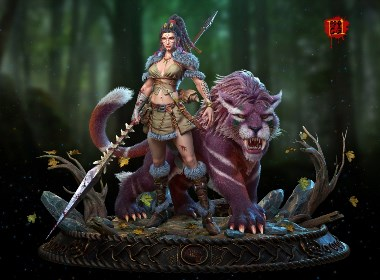 部落女战士  角色案例