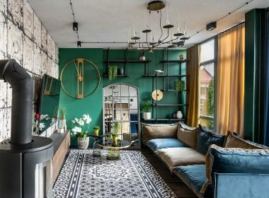 极具色彩魅力的工业风居所,个性十足的家