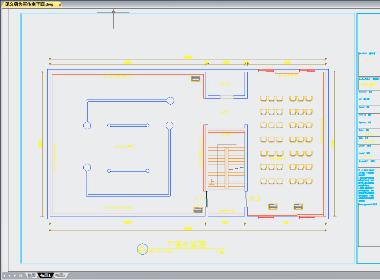 工装展厅施工图平面系统图案例