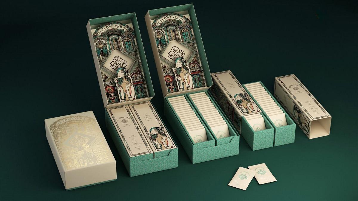茉莉花茶礼盒包装设计