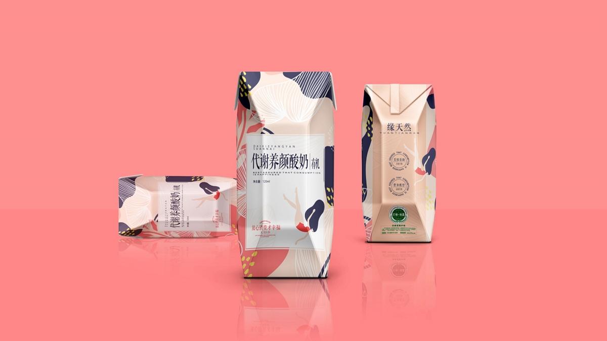 酸奶包装设计-黑马奔腾