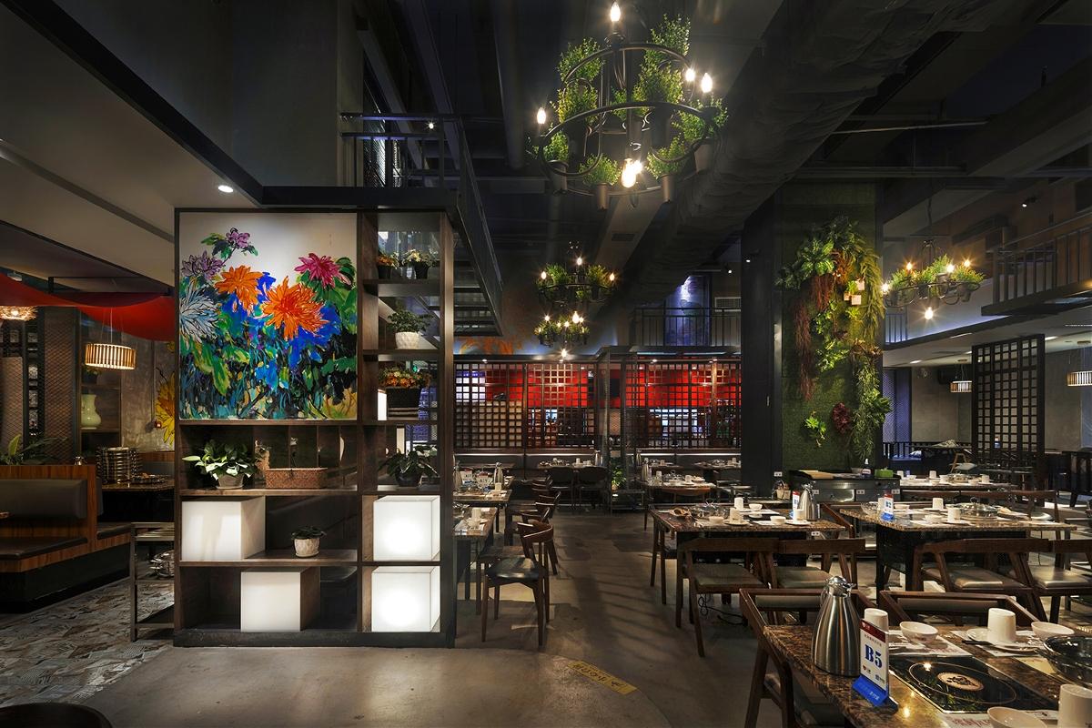 主题餐厅设计【餐饮空间设计】黄记煌:菊庭,喧嚣城市中的一片净土