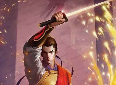武侠游戏人物 中国风游戏技能特效 水浒插画 漫画主图