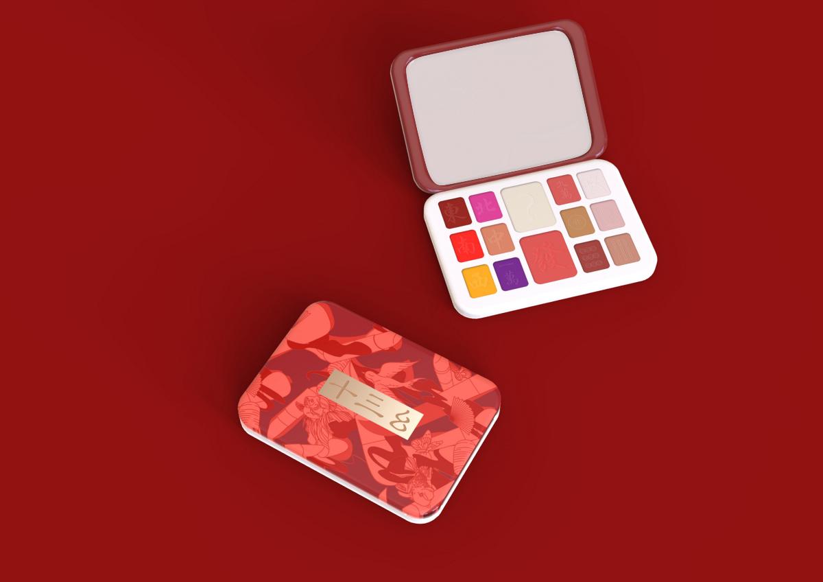 麻将x彩妆 |十三幺彩妆包装设计