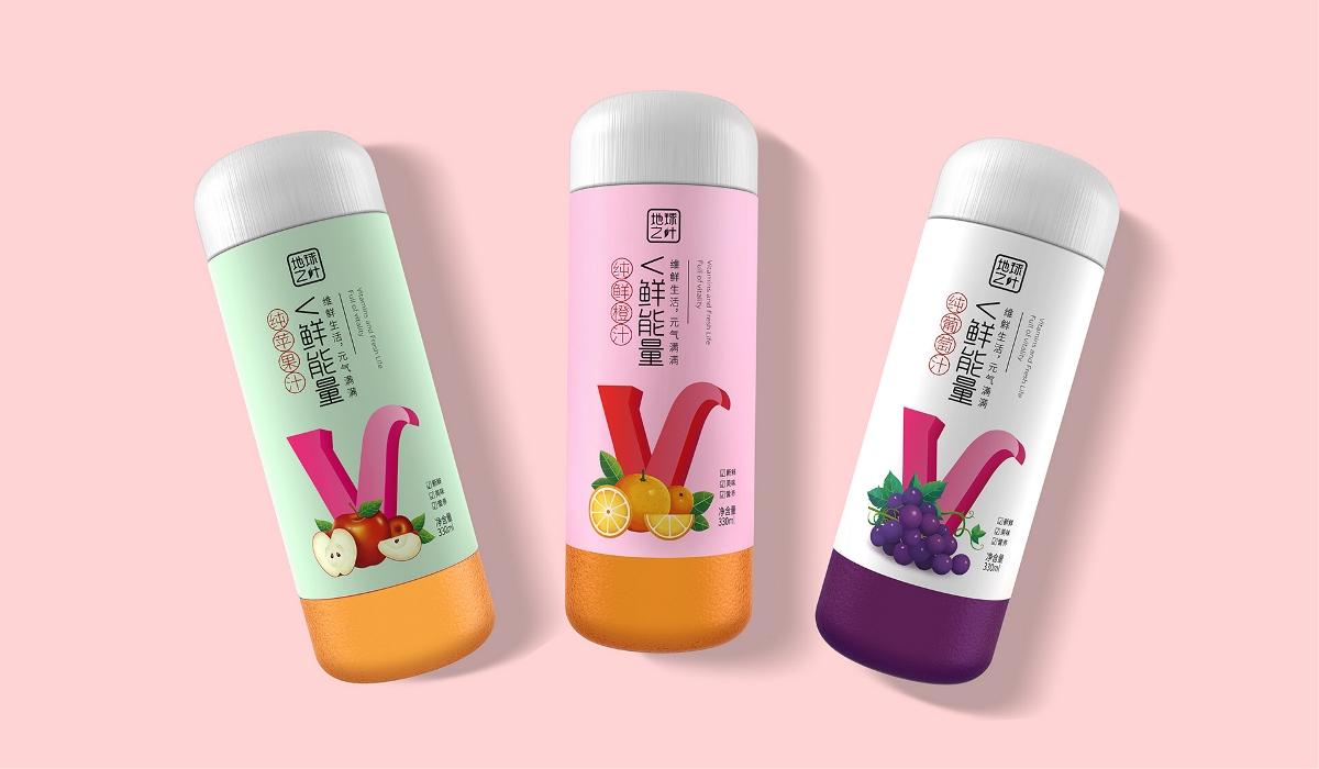 果疏汁饮料包装--圣智扬包装设计