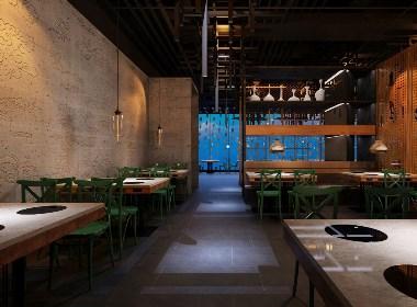 专业制作效果图施工图-餐饮空间