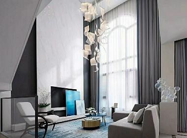 融入一点蓝色,清新雅致,仿佛不经意间的落笔,却与整个室内融为一体。