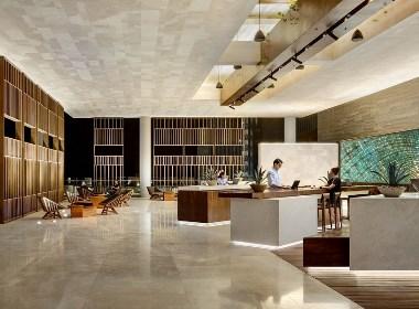 建筑的体量与周围环境形成了良好的融合,不仅为建筑内部带来了更好的视野,同时也使建筑在造型上独树一帜。