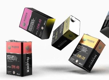 汽车润滑油机油包装设计-悟杰品牌视觉设计
