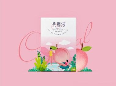 April作品「茶理漫」蜜桃乌龙茶包装设计