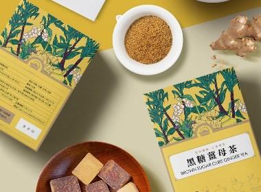 黑金传奇四款姜茶果茶包装设计
