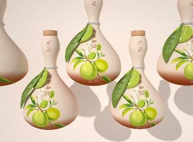 青梅釀酒 詩意生活 | 小森林 文藝 系列果酒包裝設計