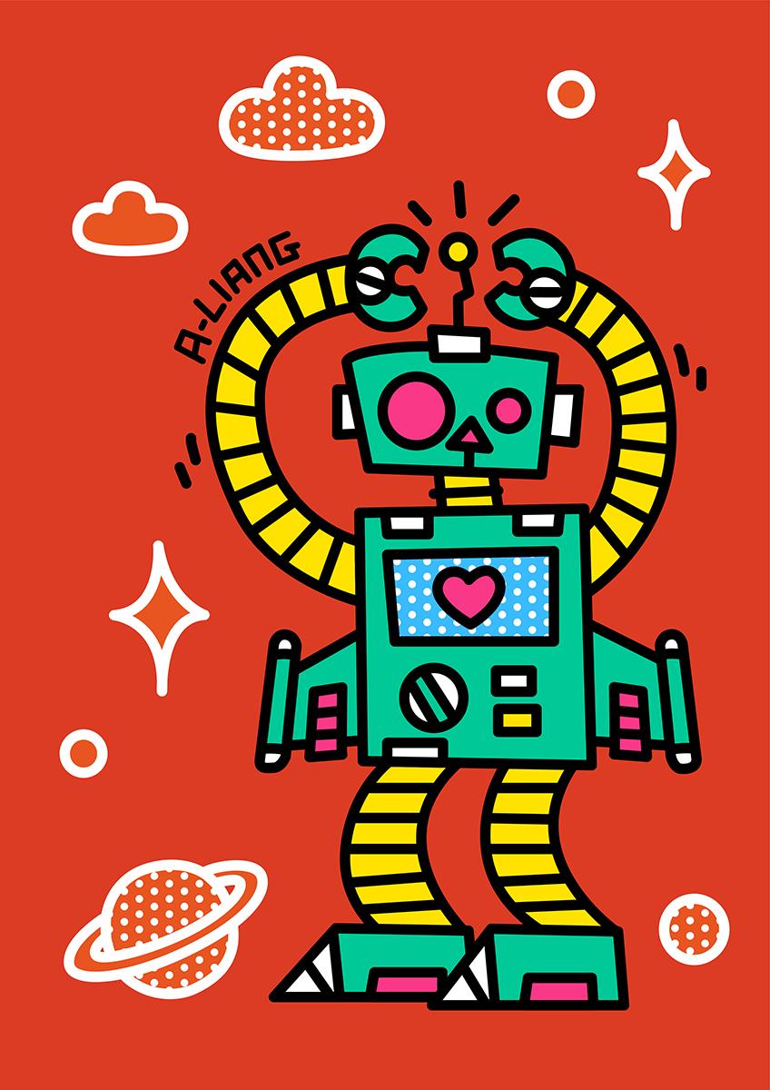机器人元素