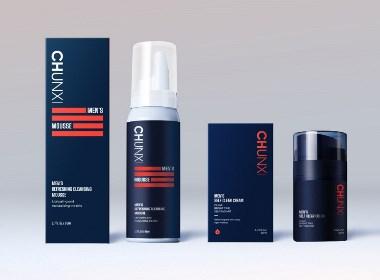 纯晞男士护肤&三行设计|纯晞男士护肤品牌包装设计