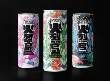 火烈鸟维生素功能饮料包装设计