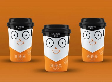 榜榜答奶茶包裝設計