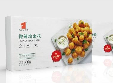 速冻食品包装设计-炸鸡速食产品设计【黑马奔腾创意设计】
