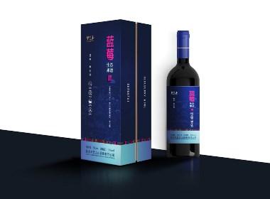 蓝莓酒包装设计