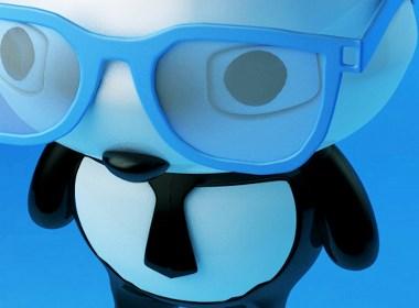 卡通可爱的小熊猫