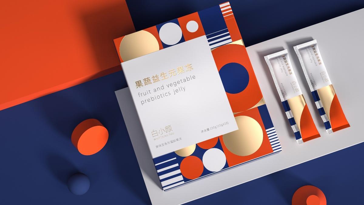 白小颜×Hellolink|果蔬益生元果冻包装设计