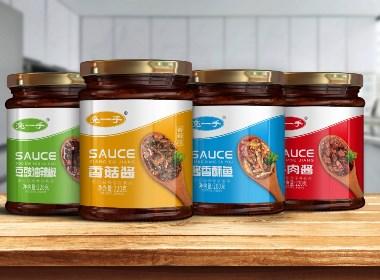 百納出品 | 岳陽亮一手·拌飯醬系列包裝設計案例